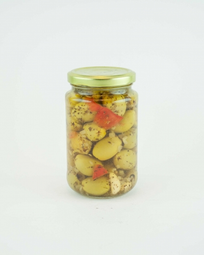 Green olives pitted Italian antipasto